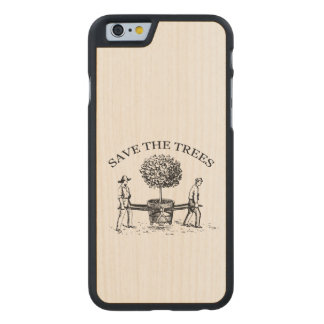 Vintage Save the Trees Wooden Iphone Case 1