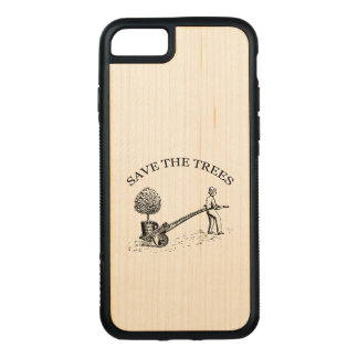 Vintage Save the Trees Wooden Iphone Case 2