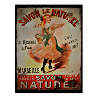 Vintage Savon Naturel Postcard