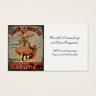 Vintage Savon Naturel Soaps Business Card