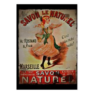 Vintage Savon Naturel Soaps Large Business Card