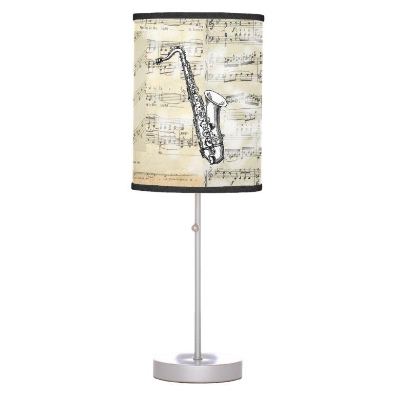 Vintage Saxophone Music Lamp