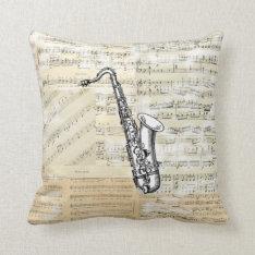 Vintage Saxophone  Music Pillow at Zazzle