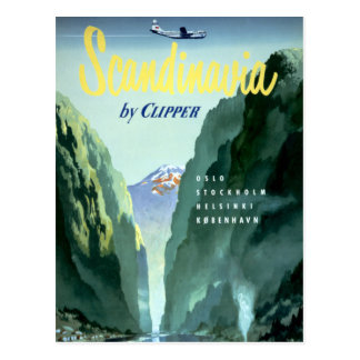 Vintage Scandinavia by Clipper Postcard