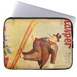 Vintage Scandinavian Cigar Ad Label Laptop Sleeves