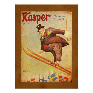 Vintage Scandinavian Cigar Ad Print
