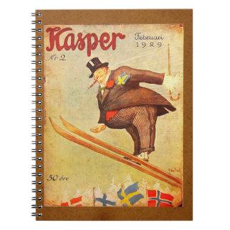 Vintage Scandinavian Cigar Ad Spiral Notebook