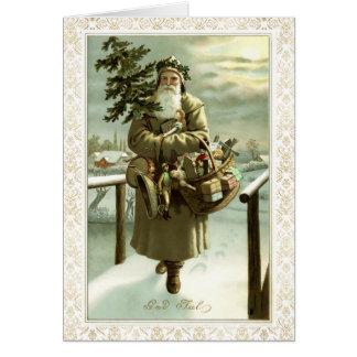 "Vintage Scandinavian ""God Jul"" Post Card Art"