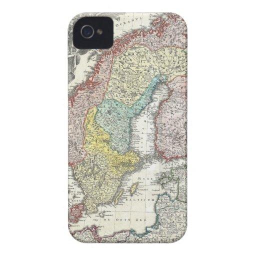 Vintage Scandinavian Map iPhone 4 Case