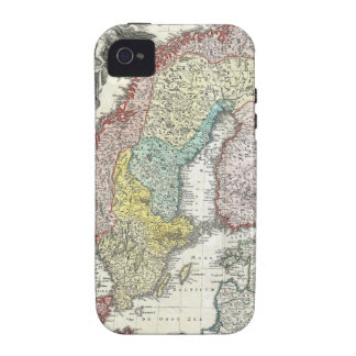 Vintage Scandinavian Map Case-Mate iPhone 4 Cover