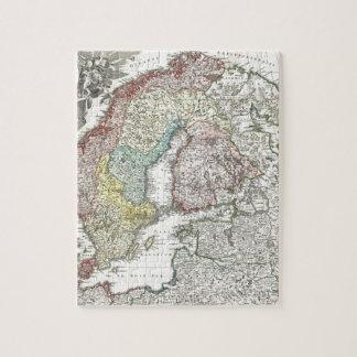 Vintage Scandinavian Map Puzzle