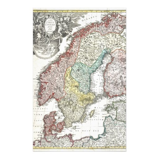 Vintage Scandinavian Map Stationery