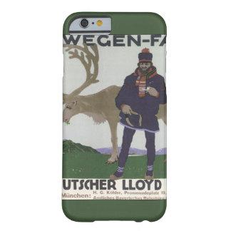 Vintage Scandinavian Travel Norwegian Man Reindeer Barely There iPhone 6 Case