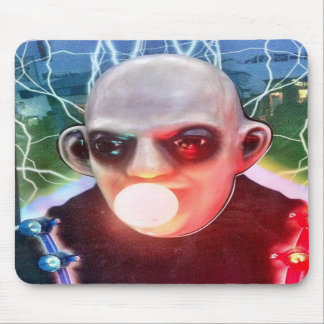 Vintage Scary Monster Arcade Game Man Mouse Pad