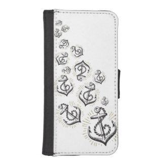 Vintage Scatter Anchor Phone Case-Wallet Wallet Phone Case For iPhone SE/5/5s
