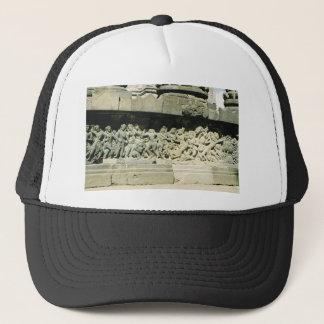 Vintage scene in Central Java, temple, agriculture Trucker Hat