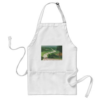 Vintage Scenic American Highways, Cars Road Trip Adult Apron