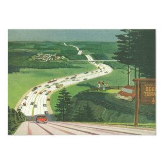 Vintage Scenic American Highways, Cars Road Trip Card