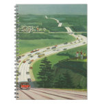 Vintage Scenic American Highways, Cars Road Trip Note Books