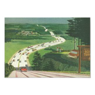 "Vintage Scenic American Highways Change of Address 3.5"" X 5"" Invitation Card"