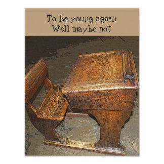 Vintage School Desk and Chair Invitation