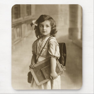 Vintage school girl mouse pad