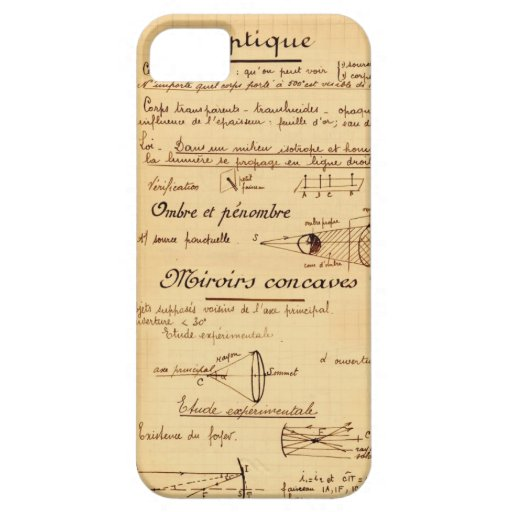 Vintage school lesson iPhone 5 covers