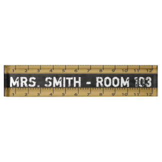 Vintage School Ruler | Teachers Nameplate