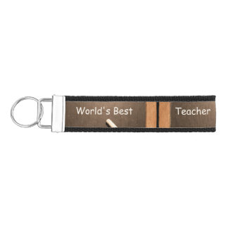 Vintage School Slate World's best teacher Keychain
