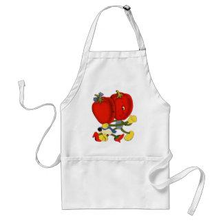 Vintage School Valentine Kitsch Red Peppers Dance Adult Apron