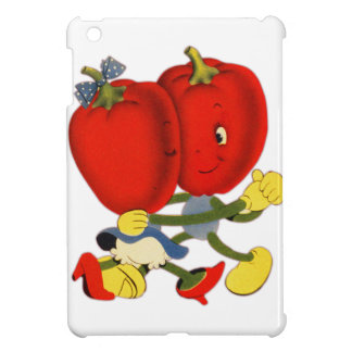 Vintage School Valentine Kitsch Red Peppers Dance iPad Mini Cases