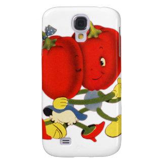 Vintage School Valentine Kitsch Red Peppers Dance Samsung Galaxy S4 Case