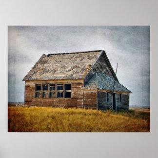 Vintage Schoolhouse Framed Print