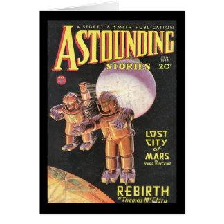 Vintage Sci Fi Comic Astounding Stories 1934 Card