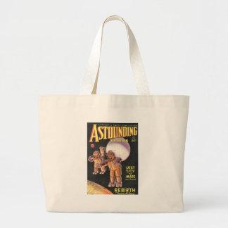 Vintage Sci Fi Comic Astounding Stories 1934 Large Tote Bag