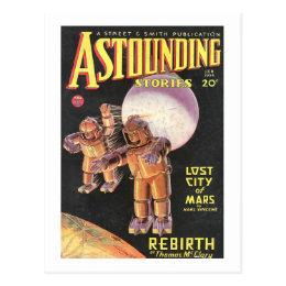 Vintage Sci Fi Comic Astounding Stories 1934 Postcard