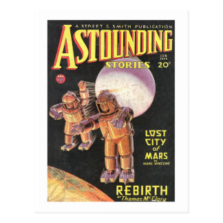 Vintage Sci Fi Comic Astounding Stories 1934 Postcard
