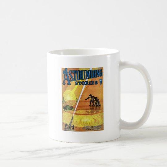 Vintage Sci Fi Comic Astounding Stories - Pirates Coffee Mug