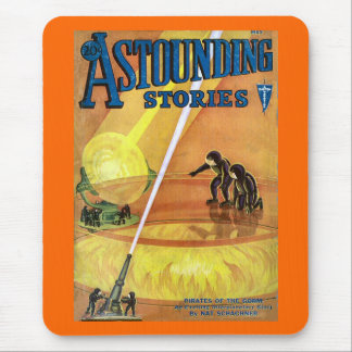 Vintage Sci Fi Comic Astounding Stories - Pirates Mouse Pad