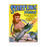 Vintage Sci Fi Comic Startling Stories Post Card