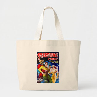 Vintage Sci-Fi Comic The City at World's End Large Tote Bag