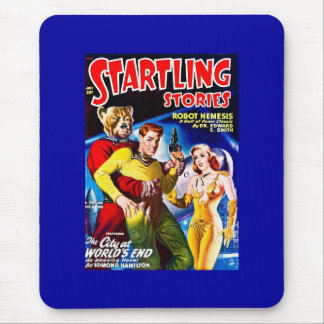 Vintage Sci-Fi Comic The City at World's End Mouse Pad