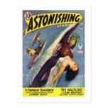 Vintage Sci-Fi Comic - The Halfling Postcards