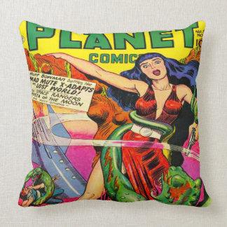 VINTAGE SCI FI COMICS Throw Pillow