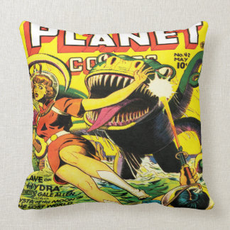 VINTAGE SCI FI COMICS Throw Pillow