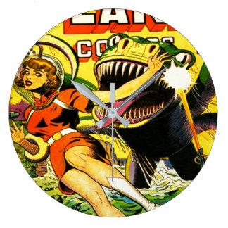 VINTAGE SCI FI COMICS Wall Clock