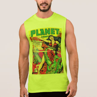 VINTAGE SCI FI Cotton Sleeveless T-Shirt
