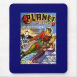 Vintage Sci Fi de las historias del planeta cómico Alfombrillas De Ratón