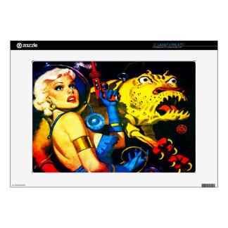 "VINTAGE SCI FI DESIGN 15"" Laptop Skin For Mac & PC"