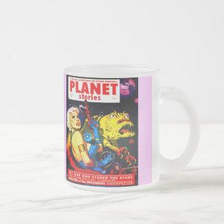 VINTAGE SCI FI Frosted Glass Mug